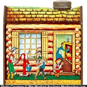 Log Cabin Maple Syrup Tin