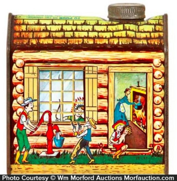 Log Cabin Maple Syrup Tin