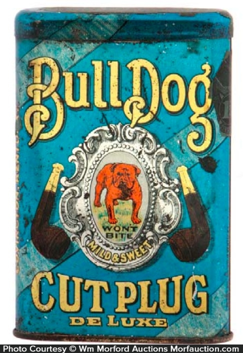 Bull Dog Cut Plug Tobacco Tin