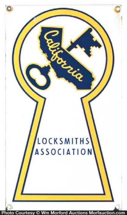 California Locksmith Sign