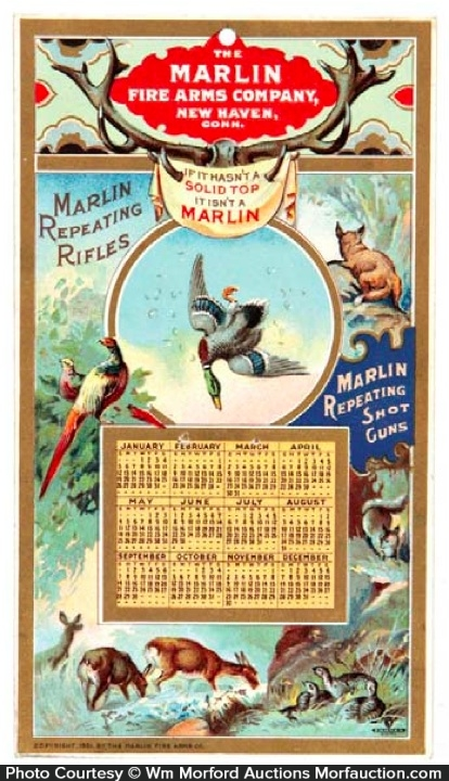 Marlin Fire Arms Calendar