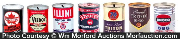 Vintage Motor Oil Tin Banks