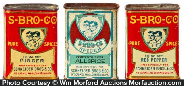 S-Bro-Co Spice Tins