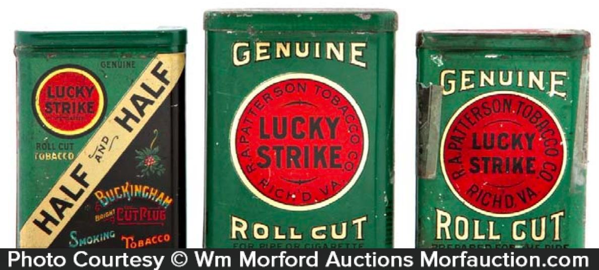 Lucky Strike Tobacco Sample Tins