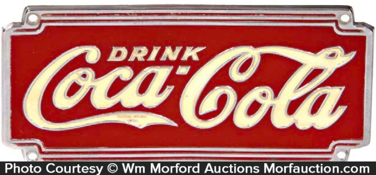 Coca-Cola Chrome Sign