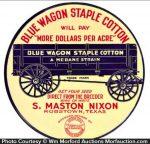 Blue Wagon Cotton Seeds Sign