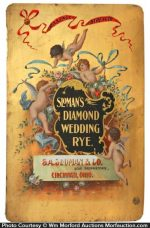 Diamond Wedding Rye Whiskey Sign