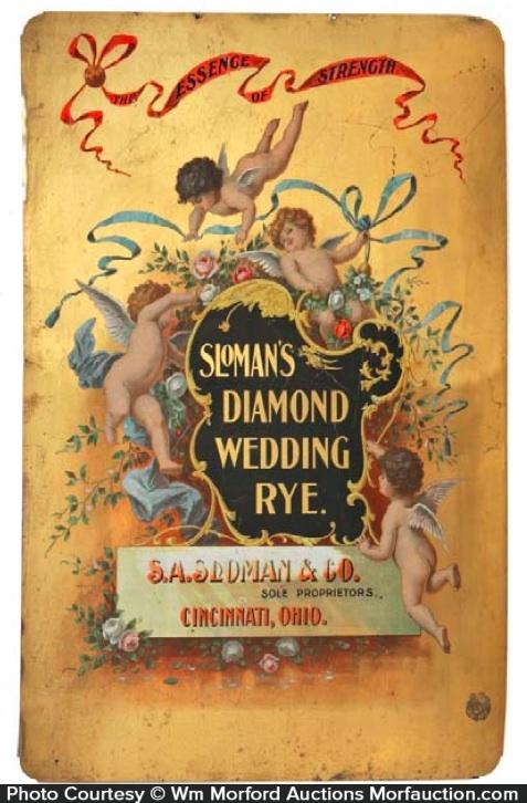 Diamond Wedding Rye Whiskey Sign