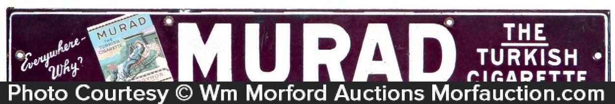 Murad Cigarettes Porcelain Sign