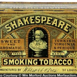 Shakespeare Smoking Tobacco Tin