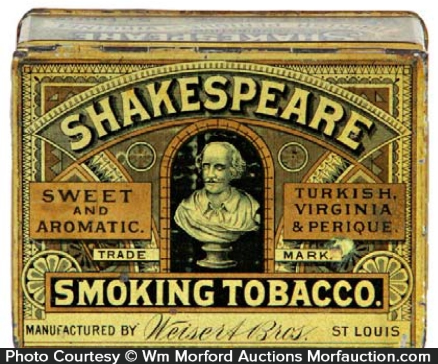Shakespeare Smoking Tobacco Tin