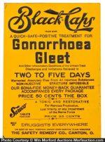 Black Caps Gonorrhoea Gleet Sign