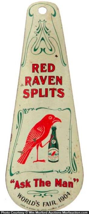 Red Raven Splits Shoe Horn