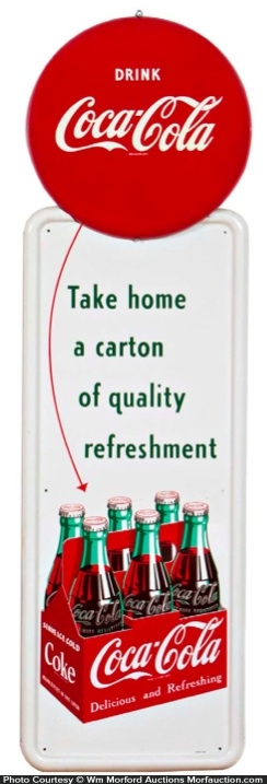 Coca-Cola 6 Pack Sign