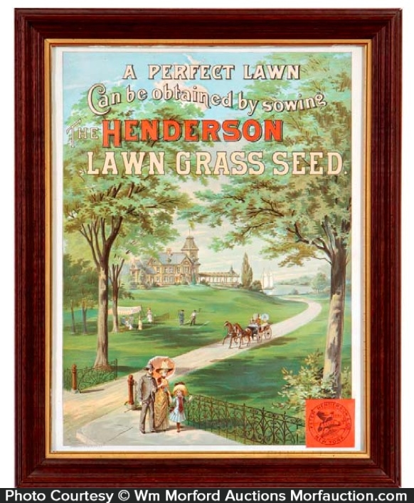 Henderson Lawn Seeds Sign