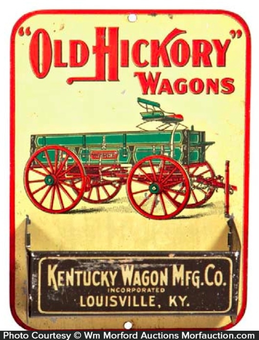 Old Hickory Wagons Match Holder