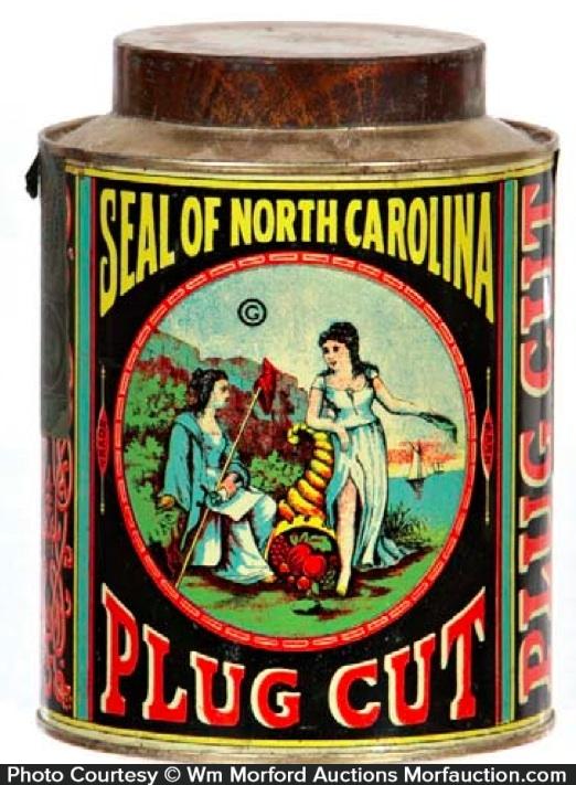 Seal Of North Carolina Tobacco Tin