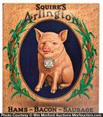 Squire's Arlington Hams Sign