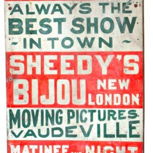 Vaudeville Folk Sign