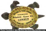 Pattern & Flask Lumber Advertising Turtle