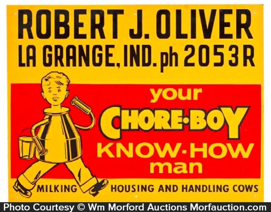 Chore-Boy Dairy Sign