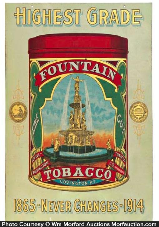 Fountain Tobacco Sign