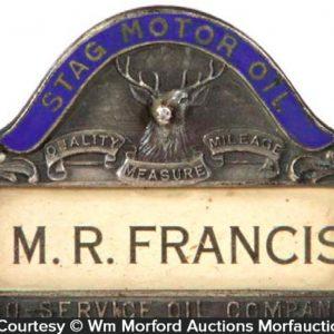 Stag Motor Oil Badge