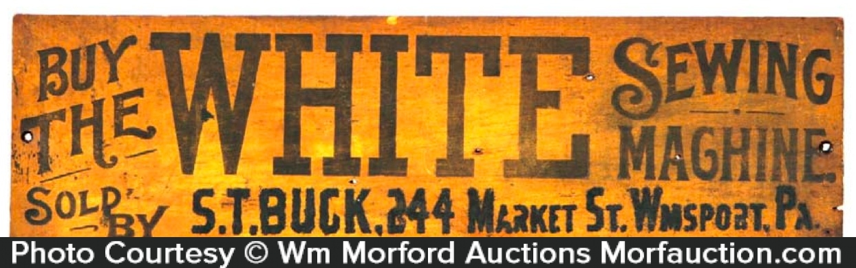 White Sewing Machines Sign