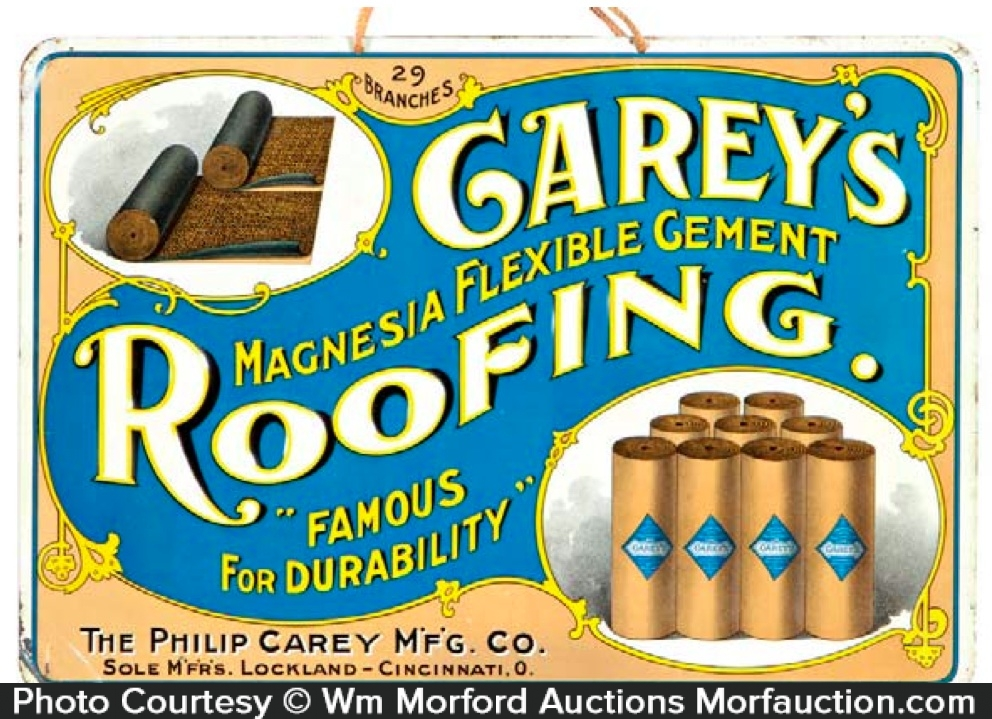 Carey's Cement Roofing Sign