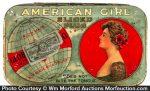 American Girl Tobacco Tin