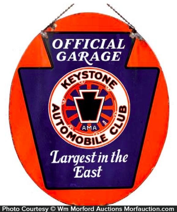 Keystone Automobile Club Sign