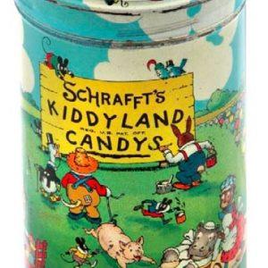 Schrafft's Kiddyland Candy Tin