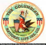 Columbian National Insurance Pocket Mirror