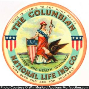 Columbian National Insurance Pocket Mirror