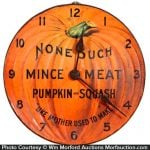 None Such Mince Meat Clock