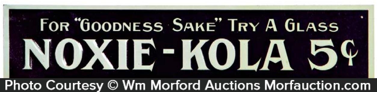 Noxie Kola Sign