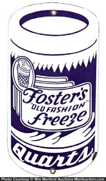 Foster's Free Ice Cream Sign