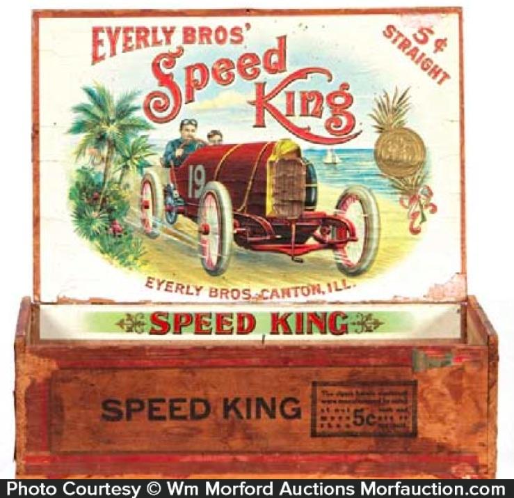 Speed King Cigar Box