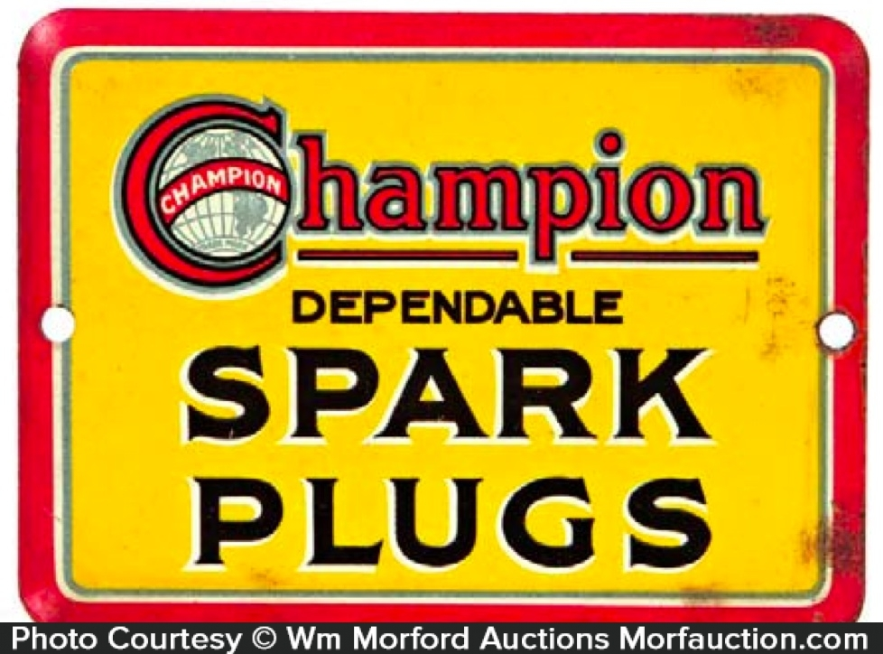 Champion Spark Plugs Door Push
