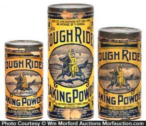 Rough Riders Baking Powder Tins