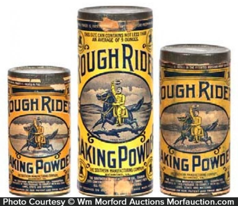 Rough Riders Baking Powder Tins