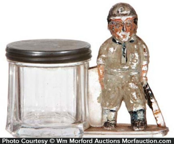 Baseball Player Candy Container