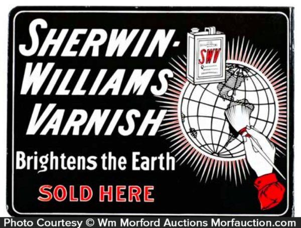 Sherwin Williams Varnish Sign