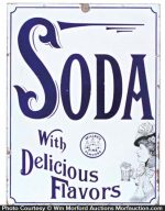 Porcelain Miller's Soda Sign