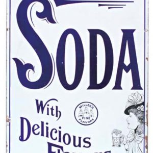 Porcelain Miller's Soda Sign