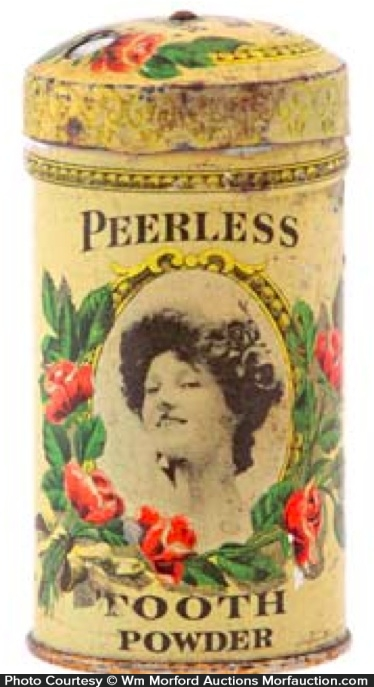 Peerless Tooth Powder Tin