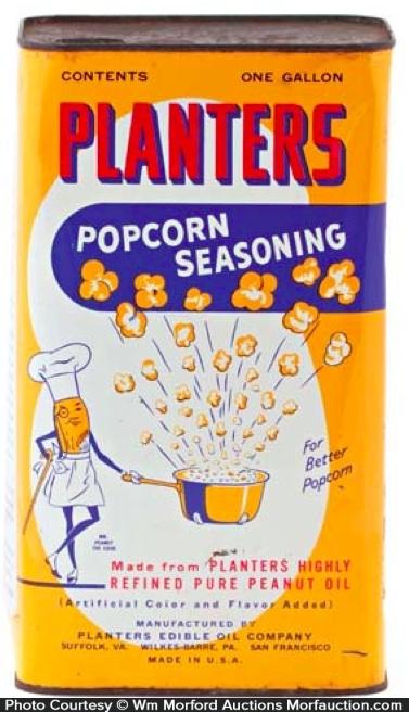Planters Popcorn Seasoning Tin