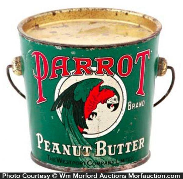 Parrot Peanut Butter Pail