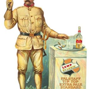 Falstaff Beer Teddy Roosevelt Sign