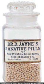 Dr. Jayne's Sanative Pills Jar